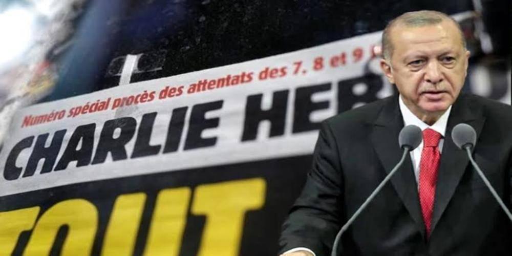 """Cumhurbaşkanı Erdoğan'dan Charlie Hebdo dergisinin alçak karikatürüyle ilgili açıklama: """"Hedefin şahsım değil, savunduğumuz değerler olduğunu biliyoruz"""""""