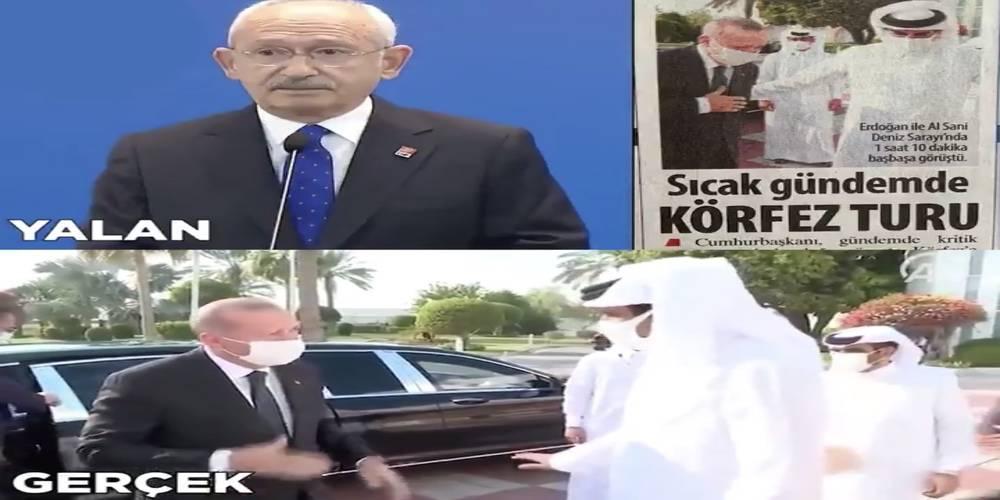Kemal Kılıçdaroğlu'nun Erdoğan eleştirisini yalanlayan görüntü