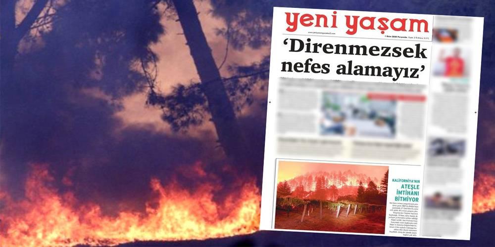 Yangın talimatı terör örgütü PKK'nın gazetesinden mi verildi?
