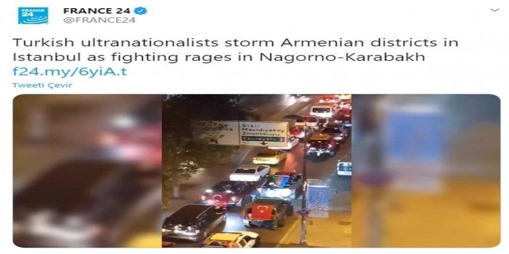 France 24 Türkiye ile ilgili yalan haber paylaştı