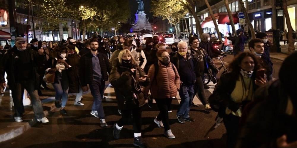 Fransa'da karantina protestosu! Covid-19 önlemleri karşıtı gösterilerde olaylar çıktı
