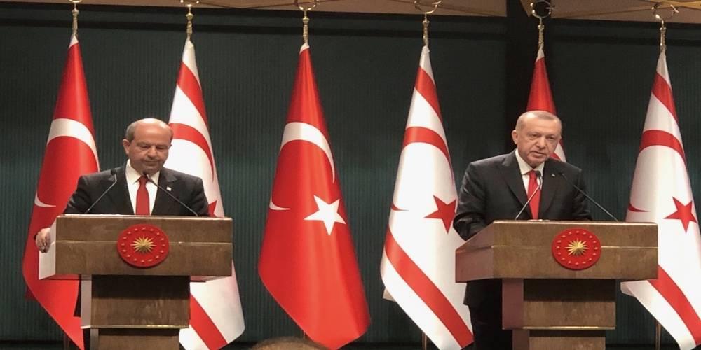 """Cumhurbaşkanı Erdoğan: """"Türkiye'nin Kıbrıs'ta acil, kalıcı ve sürdürülebilir bir çözüm bulunması yönündeki iradesi bakidir."""""""