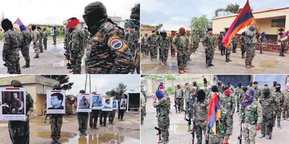 PKK'lı teröristler Ermenistan saflarında...