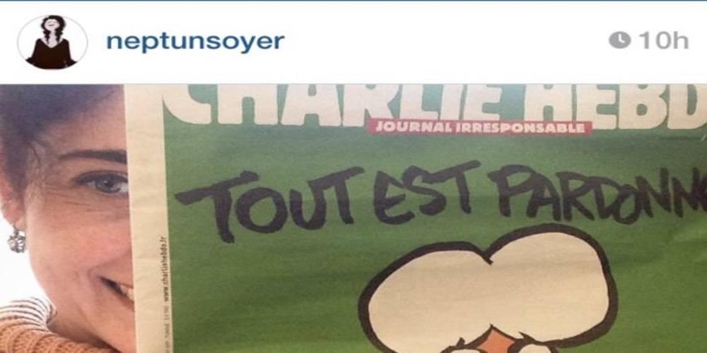 CHP'li Tunç Soyer'in eşi Neptün Soyer'den Charlie Hebdo'ya destek!