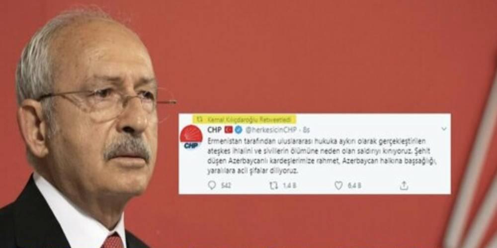 Ne HDP kızsın, ne İYİ Parti küssün! CHP Genel Başkanı Kılıçdaroğlu Azerbaycan'a destek açıklaması yapmadı