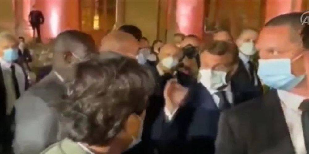 Macron, Hizbullah lideriyle yaptığı görüşmeyi haberleştiren gazeteciyi azarladı