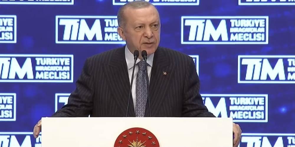 """Cumhurbaşkanı Erdoğan: """"Aylık, 6 aylık ve 12 aylık bazda cumhuriyet tarihinin en yüksek ihracat rakamlarına bu yıl ulaştık."""""""