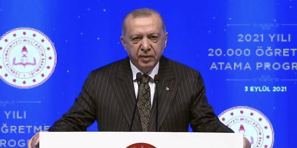 """Cumhurbaşkanı Erdoğan: """"Salgın halen devam ediyor ama artık çocuklarımızı okullarından uzak bırakma lüksümüz de kalmadı."""""""